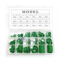 Green O-ring Seal Kit Assortment Set for Automotive A/C Hydraulics Air Gas HVAC R134a R12 Metric Sizes(China)