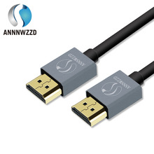 ANNNWZZD HDMI Cable with Ethernet HDMI 2.0 Professional 3D 4k Full HD 1080p Audio Return Channel (ARC)24k Gold plated