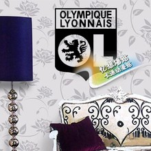 DIY French Lyon badge logo  vinyl  Removable wall stick football stickers Dormitory bedroom setting metope stickers