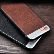 Noble Crocodile Leather For iPhone 6s case Crocodile Grain phone case For Apple iPhone 6 6s 7 plus Case Cover