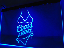 LE119- Coors Light Beer Bikini Bar Pub   LED Neon Light Sign   home decor  crafts