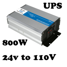 800W UPS inverter 24vdc to 110vac voltage converter LED Display off grid Pure Sine Wave with charger and UPS AG800-24-110-A(China)