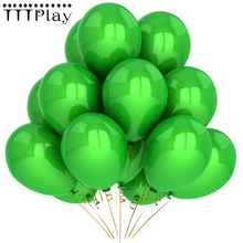 Green Balloons 10pcs/lot 12Inch 2.8g Pearl Latex Balloon Inflatable Air Balloon Happy Birthday Wedding Party Decoration Balloons(China)
