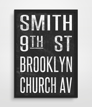 NYC Subway Sign Art Print Vintage New York City Sign Tram  Bus Scroll City Print Poster picture Modern Art Print home Wall Decor