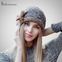 Fashion 2015 Autumn And Winter Female Hats Hot Selling The Knitting Ball Cap Hat Casual Outdoors Cap For Women AA140005(China)