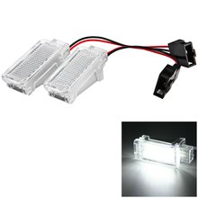 2pcs DC12V Car Door Lights External Interior Replacement Courtesy Door Lamp SMD3528 White Light 18 LEDs for Audi A3 A4 A6