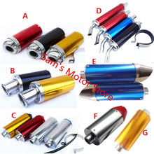 Fish Mouth Bullet Head Dirt Bike CRF Motorcycle Scooter Exhaust Muffler