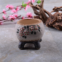 Hand painted, South Korea flower pots, succulents, flowerpot, glaze, pottery vases, wholesale~