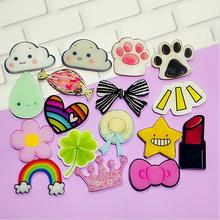 Kawaii Harajuku Icons Pooh Bear Badge Acrylic Brooch For Women/Man Clothes Badge Decorative Rozet Collar Scarf Lapel Pin Broach
