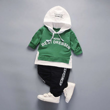 "2Pcs cool boys clothes Infant Toddler Baby Boys Girls Hoodie Tops +Pants winter warm Outfits Clothes Set ""Noted Best Dressen"""