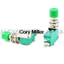 SPDT 1NO 1NC 3-Terminal Green Button Actuator Mini Limit Microswitch