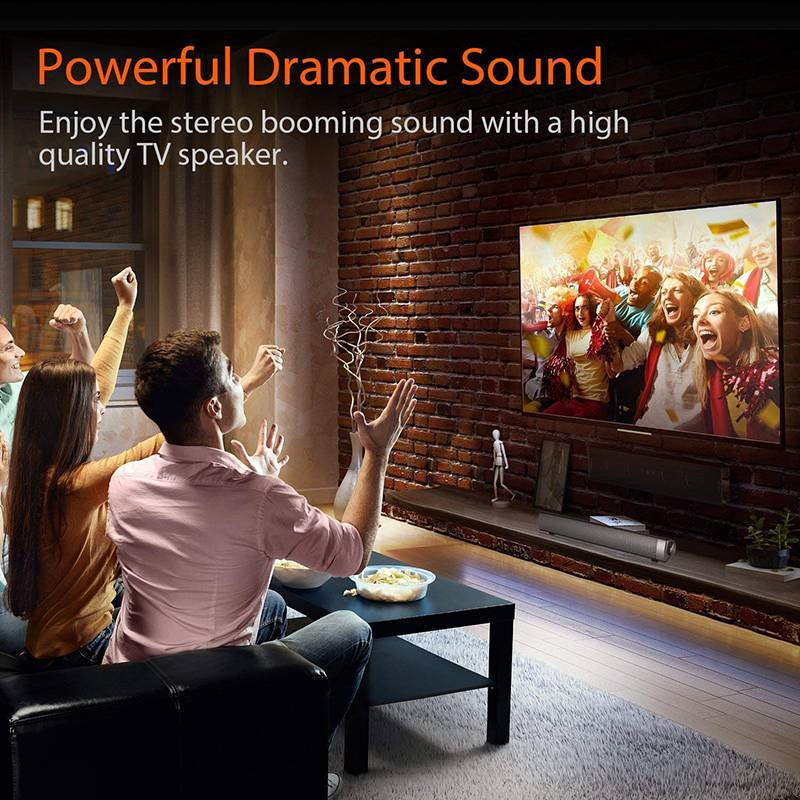 VTIN Wireless Bluetooth Speaker 4.2 SoundBar Remote Control TF Card TV Cellphone Tablet Surround Sound System TV Speaker Golden (12)