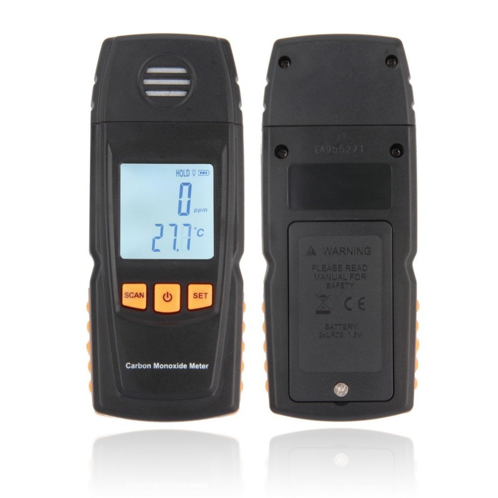 Handheld Meter CO Gas Tester Detector Meter smart sensor portable CO Gas Detector LCD Digital Carbon Monoxide<br>