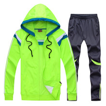 Survetement football winter men kids tracksuit football kits soccer jerseys set hooded sport football training tracksuit uniform