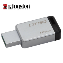 Kingston USB 3.0 Pendrive 128GB 32GB USB Flash Drive USB 3.1 Pendrive 16GB Mental Pen Drive 64GB 8GB Memory Stick DT50(China)