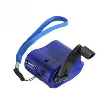 2017 New USB Travel Emergency Phone Charger Dynamo Hand Manual Charger Blue(China)