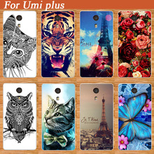 Best Quality Case For Umi Plus Fashion Cover Eiffel Tower Rose Flower COOL Animal Painting Super Case Cover For UMI PLUS Holder