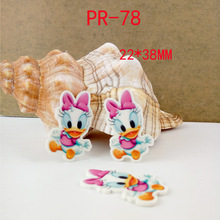 Cartoon patch baby Daisy Duck Figurine crafts flat back planar resin  DIY headwear hair accessories garden decoration