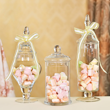 3pcs/Set Transparent Lid Storage Bottle Glass Candy Jars Wedding Decoration Canister Mason Jar Jars For Storage Food Container(China)