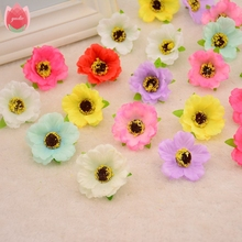 Wholesale 100pcs Silk Artificial Chrysanthemum Flowers For Wedding Home Decoration Daisy Scrapbooking Craft Accessories Flowers