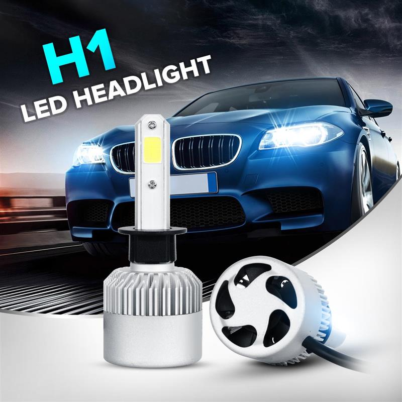 2x H1/H7 Single Beam Car Headlight Bulbs COB LED 72W 8000lm All-in-one Auto Driving Fog Light Bulb 12V Pure White 6500K<br><br>Aliexpress