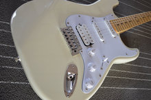 Factory store milk yellow stratocaster electric guitar custom guitarra sales EMS free shipping(China)