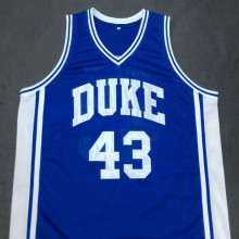 MIKE GMINSKI DUKE Devils Blue Basketball Jersey Embroidery Stitched Customize any size and name