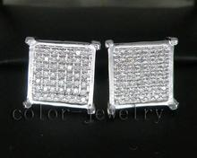 0.59Ct Natural Diamonds Earrings,Elegant Earrings Stud In Solid 14Kt White Gold Hot Sale(China)