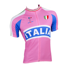 Men Short Sleeve Italy Cycling Jersey 2017 Quick Dry Summer Pink 100% Bike Clothes Clothing Riding Road Mtb Team Breathable