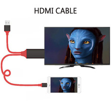 2M 8PIN HDMI Cable for Iphone 5/6/6S/6 Plus/7/7plus Lightning to HDMI HDTV 1080P Audio Adapter Cables For game Video Display(China)