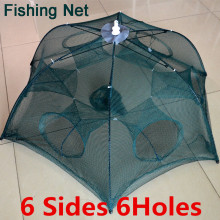 Newest Automatic Folding Fishing Net Shrimp Cage Nylon Foldable Crab Fish Trap Cast Net Cast Folding Fishing Network
