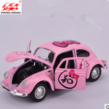 Hot mini model car, super cute mini 1:32 die cast alloy model car, DoubleHorses education children toy, birthday gift model car(China)
