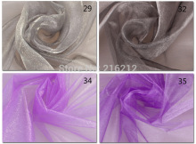 0.75*110m/reel 30 Colors Sheer Mirror Organza Stiff Fabric For Wedding Drape Decoration