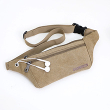 Unisex casual small travel belt bags cool men and women canvas waist bag & pack women cute multi functional durable be;;u bags