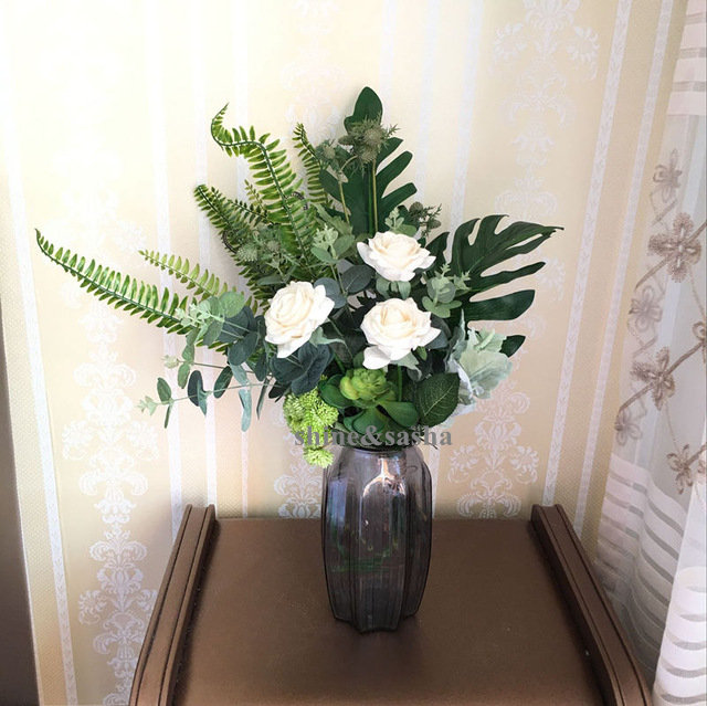 MIN-order-5-Mori-style-flower-bouquet-eucalyptus-rose-Hydrangea-Overlord-Monstera-Leaf-bouquet-wedding-spring.jpg_640x640 (8)_