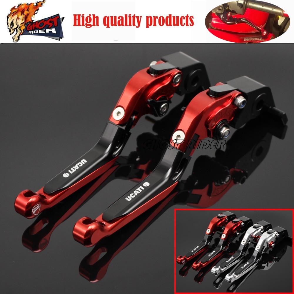 For DUCATI MONSTER 821 HYPERMOTARD 821 / Strada 14-15 Motorcycle CNC Billet Aluminum Folding Extendable Brake Clutch Levers<br>