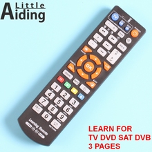 Universal Remote control with learn function, controller for TV,STB,DVD,DVB,HIFI, TV box, 45Keys 3 pages.(China)