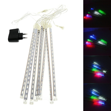 50CM 240 LED White/blue/RGB Color LED Waterproof Snowfall Meteor Light Christmas Lights Outdoor 100-240V(China)