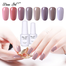 BeauGel Nude Color Glaze Nail Gel Polish Soak Off UV Gel Nail Polish Gel Varnish Gel Lacquer Vernis Ongle 8ml Semi Permanent