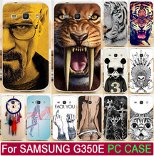 Cool Animal Tiger Lion Cat Giraffe Skull TV Breaking PC Paint Cover For Samsung Galaxy Star Advance G350E Phone Case Shell Capa(China)