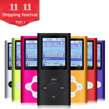 FGHGF slim 4th gen mp3 player 32GB 16GB 9 Colors for choose Music playing time 30Hours fm radio video player(China)