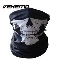 Cool Tubular Skull Ghosts Ghost Mask Bandana Motor bike Sport Scarf Neck Warmer Winter Halloween For Motorcycle(China)