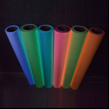 Yellow Glow in the Dark Roll of T-Shirt Vinyl Heat Press Vinyl Transfer Cutter Plotter 50cm60cm