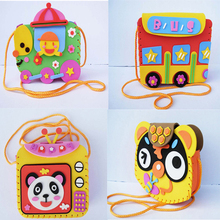 Multicolor Kids DIY Hand-made Paste  Backpack Model Building Kits Educational Toys DIY Assembling Classic Toy