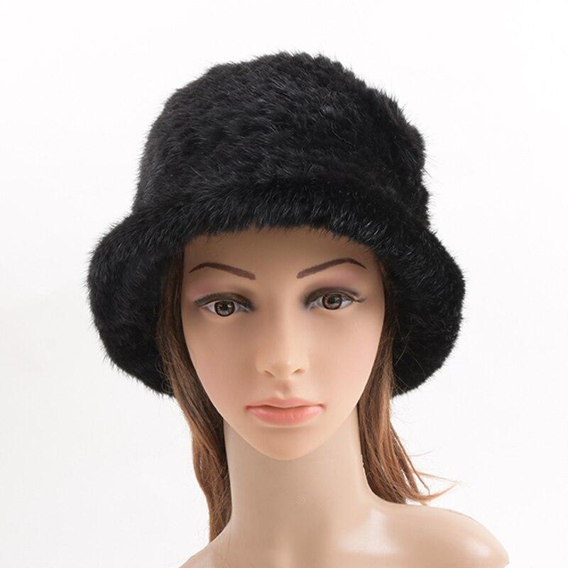 Winter Hats Women 2017 Real Mink Fur Hat Cap Fur Headdress Warm Beanies Fashion Female Cap Hats HeadgearÎäåæäà è àêñåññóàðû<br><br>