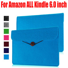 Sheep PU Leather Sleeve bag Case for Amazon ALL Kindle 6.0 inch cover For Kindle oasis paperwhite voyage touch Ereader KO3