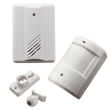 Driveway Patrol Garage Infrared White Wireless Human Body Induction Doorbell Home Security Alarm Motion Sensor 120M(China)