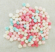no holes jewelry resin flowers cabochons cameo flat back nails decals manicure rose mobile cell case pendants findings glue on(China)