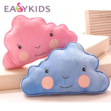 cartoon smile cloud sunny plush doll Lovely cute smile blue clouds pillow cushion novelty children birthday stuffed toy(China)
