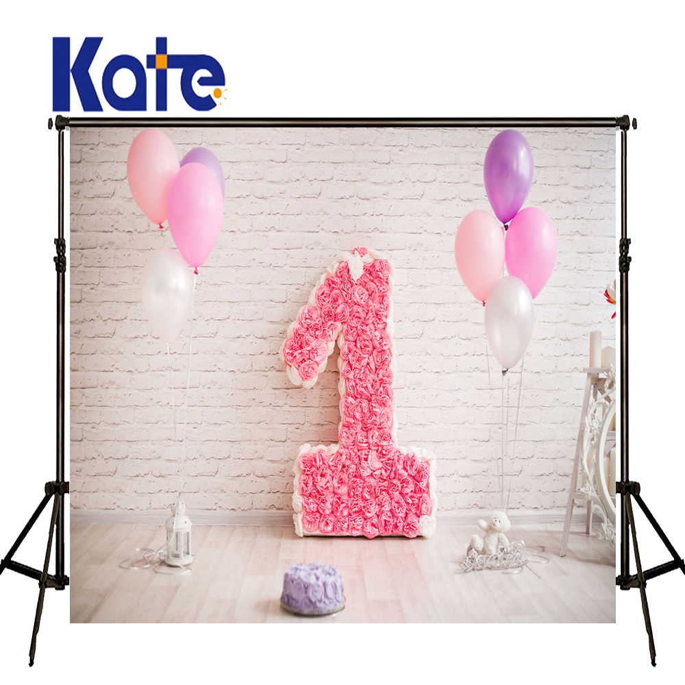 KATE Photography Backdrops 10x10ft Newborn Photography Background Cake Photography Ballon for Photo Shoots<br>